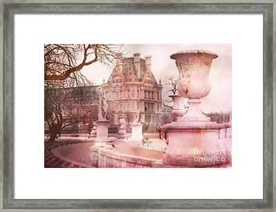 Paris Tuileries Park Garden - Jardin Des Tuileries Garden - Paris Tuileries Louvre Garden Sculpture Framed Print by Kathy Fornal