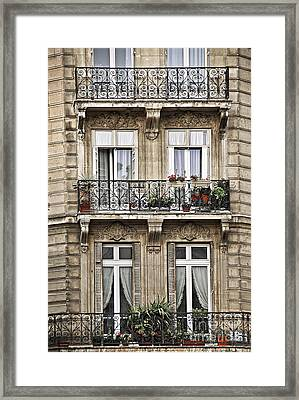 Paris Windows Framed Print by Elena Elisseeva