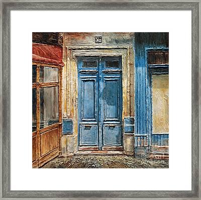 Parisian Door No.36 Framed Print by Joey Agbayani