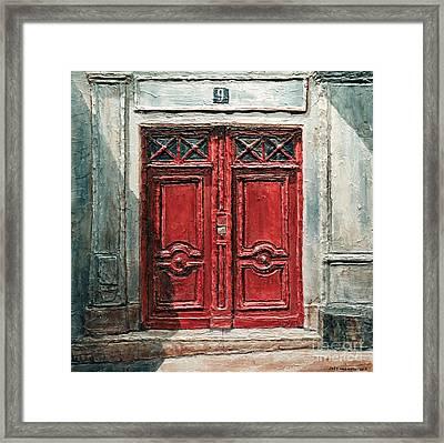 Parisian Door No.9 Framed Print by Joey Agbayani