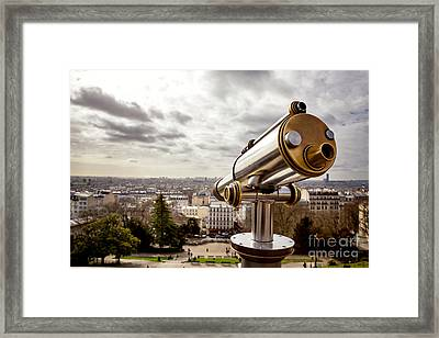 Parisian View Framed Print by Jane Rix