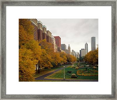 Park In A City, Grant Park, Michigan Framed Print by Panoramic Images