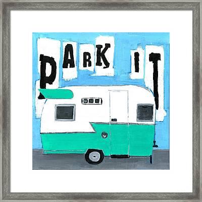 Park It-aqua Framed Print by Debbie Brown