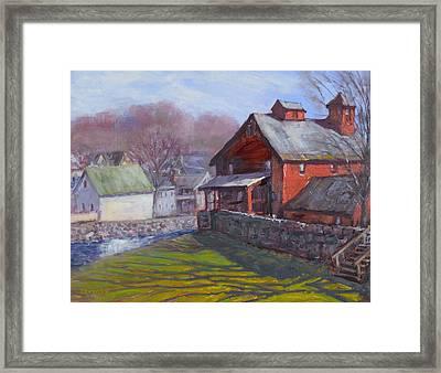 Parker Mill In April Framed Print by Ken Fiery