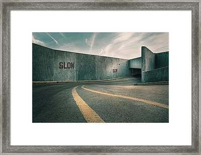 Parking Garage At The End Of The World Framed Print by Scott Norris