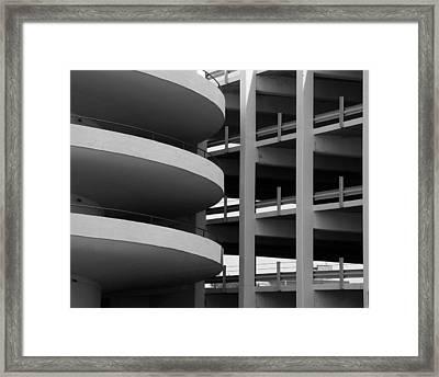 Parking Garage Framed Print by David April