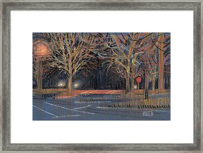 Parking Lot Framed Print by Donald Maier