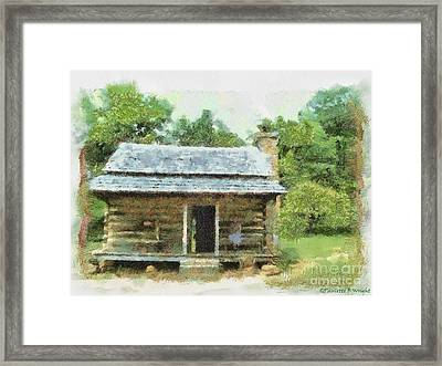 Parkway Cabin Framed Print by Paulette B Wright