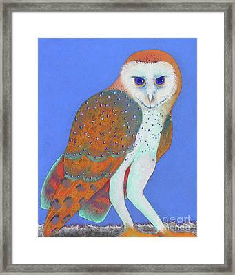 Parliament Of Owls Detail 1 Framed Print by Tracy L Teeter