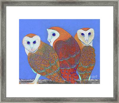 Parliament Of Owls Detail 2 Framed Print by Tracy L Teeter
