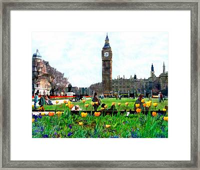 Parliament Square London Framed Print by Kurt Van Wagner