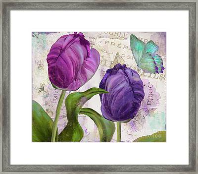 Parrot Tulips Framed Print by Mindy Sommers