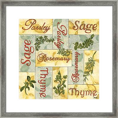 Parsley Collage Framed Print by Debbie DeWitt