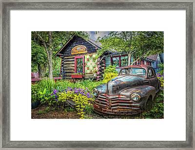 Part Of The Garden Framed Print by Debra and Dave Vanderlaan