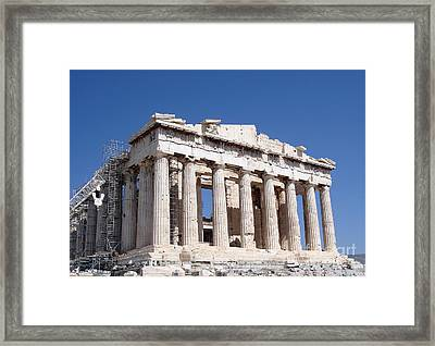 Parthenon Front Facade Framed Print by Jane Rix