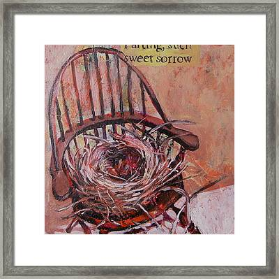 Parting Is Such Sweet Sorrow Framed Print by Tilly Strauss