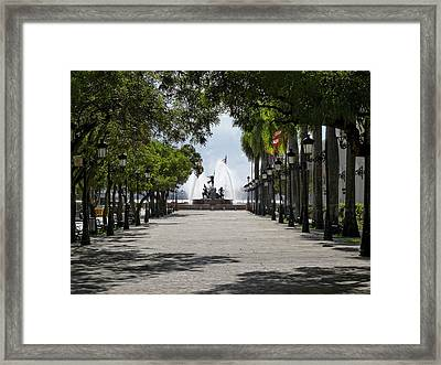 Paseo De La Princesa In San Juan Framed Print by George Oze