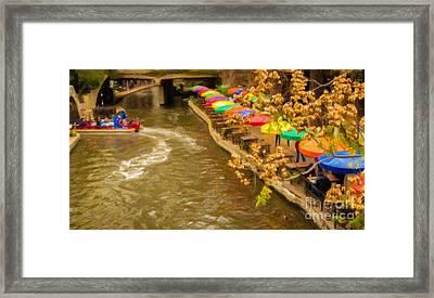 Paseo Del Rio Framed Print by Jon Burch Photography