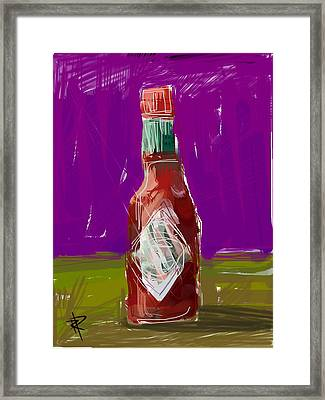 Pass The Hot Sauce Framed Print by Russell Pierce