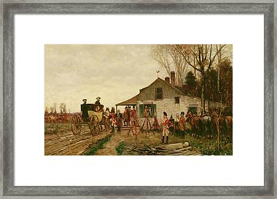Passing The Outpost Framed Print by Alfred Wordsworth Thompson