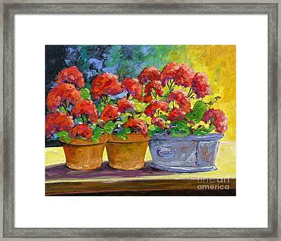 Passion In Red Framed Print by Richard T Pranke