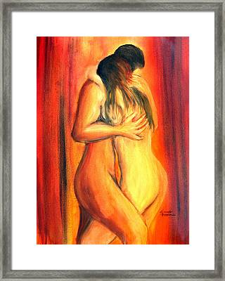 Passion Framed Print by Leonardo Ruggieri