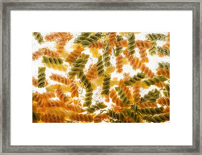Pasta Boil Framed Print by Steve Gadomski