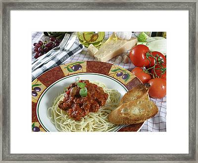 Pasta Dish 2 Framed Print by Jack Dagley