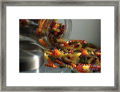Pasta Spillage Framed Print by Robert Frederick
