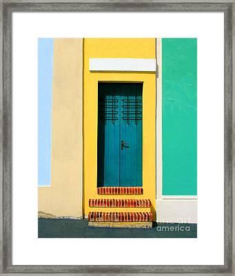 Pastel Doorway Framed Print by Perry Webster