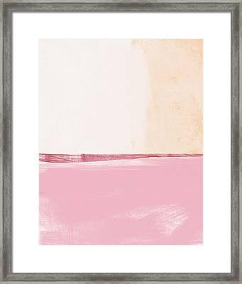 Pastel Landscape Framed Print by Linda Woods
