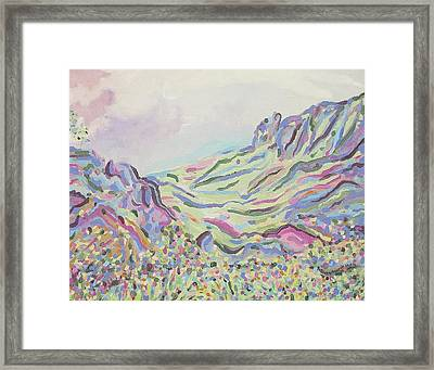 Pastel Landscape Framed Print by Suzanne  Marie Leclair