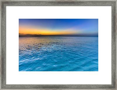 Pastel Ocean Framed Print by Chad Dutson