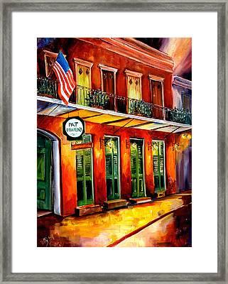 Pat O Briens Bar Framed Print by Diane Millsap
