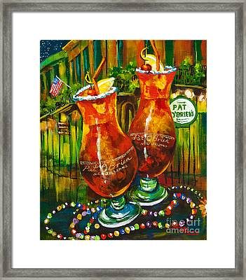 Pat O' Brien's Hurricanes Framed Print by Dianne Parks