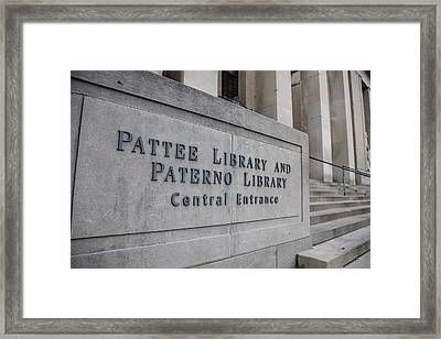 Paterno Library At Penn State  Framed Print by John McGraw