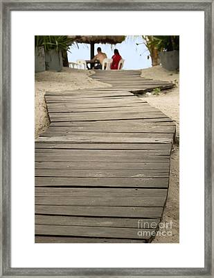 Path Framed Print by Blink Images
