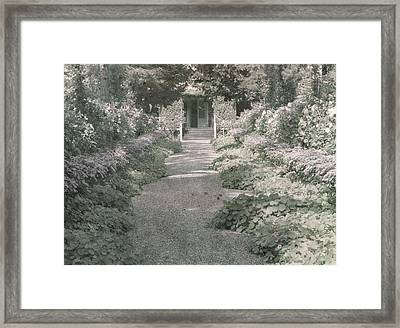 Path In Monet's Garden At Giverny Framed Print by French School