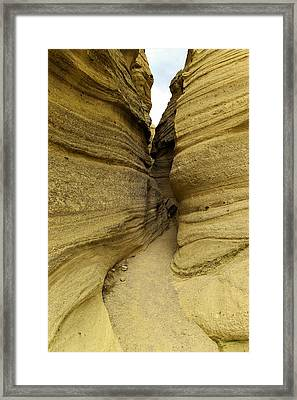 Path Through The Tent Rocks Framed Print by Jeff Swan