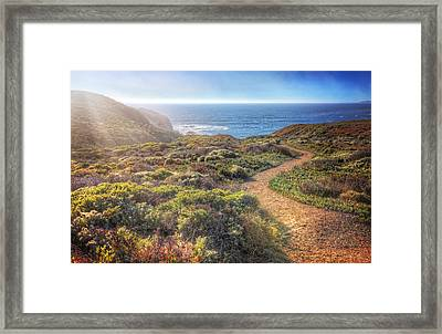 Path To South Rodeo Beach - Marin County California #2 Framed Print by Jennifer Rondinelli Reilly