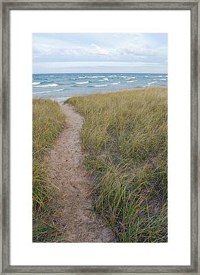 Path To The Beach Framed Print by Twenty Two North Photography