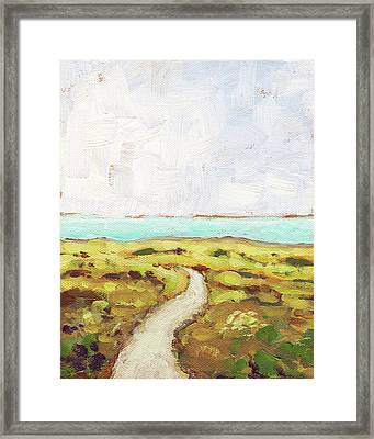 Path To The Sea Framed Print by Clary Sage Moon