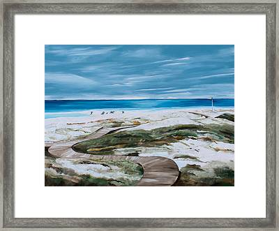 Pathway Framed Print by Racquel Morgan