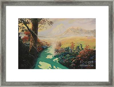 Pathway To Peace Framed Print by Rich Donadio