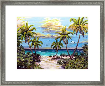 Blue Grapes Framed Print featuring the mixed media Pathway To The Gulf by Riley Geddings