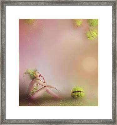 Patience....pretty In Pink Framed Print by Joe Gilronan