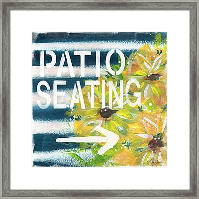Patio Seating- By Linda Woods Framed Print by Linda Woods