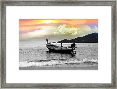 Patong Beach Framed Print by Mark Ashkenazi