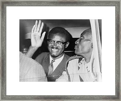 Patrice Lumumba 1925-1961 First Prime Framed Print by Everett