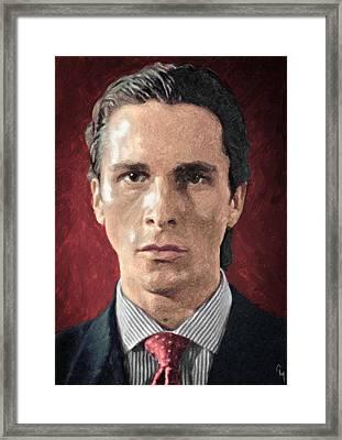 Patrick Bateman - American Psycho Framed Print by Taylan Soyturk